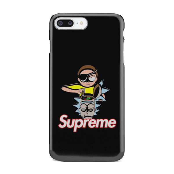 Rick and Morty Black Supreme for Cute iPhone 8 Plus Case Cover
