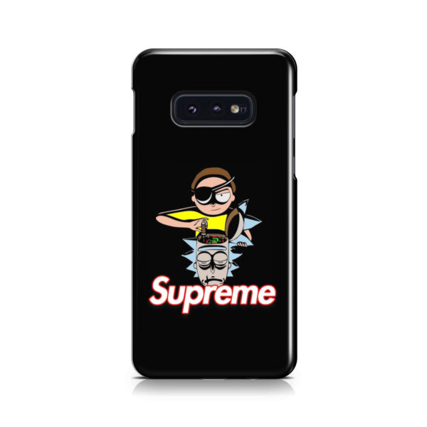 Rick and Morty Black Supreme for Premium Samsung Galaxy S10e Case