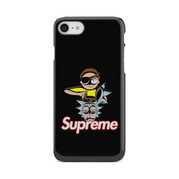 Rick and Morty Black Supreme for Simple iPhone 8 Case Cover