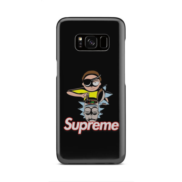 Rick and Morty Black Supreme for Simple Samsung Galaxy S8 Case