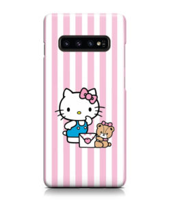 Cute Pink Hello Kitty for Best Samsung Galaxy S10 Plus Case Cover