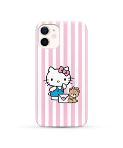 Cute Pink Hello Kitty for Cool iPhone 12 Case Cover