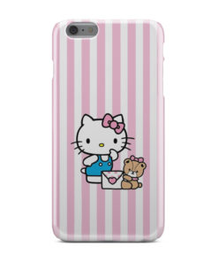 Cute Pink Hello Kitty for Custom iPhone 6 Plus Case