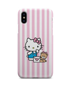 Cute Pink Hello Kitty for Newest iPhone X / XS Case Cover