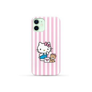 Cute Pink Hello Kitty for Personalised iPhone 12 Mini Case