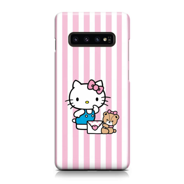 Cute Pink Hello Kitty for Personalised Samsung Galaxy S10 Case