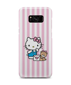 Cute Pink Hello Kitty for Simple Samsung Galaxy S8 Plus Case