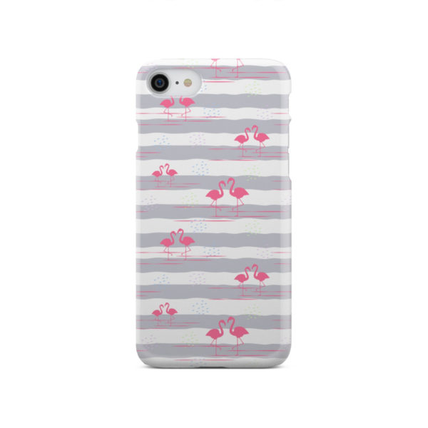 Flamingo Pink Stripes for Amazing iPhone SE 2020 Case Cover