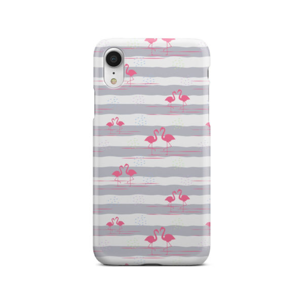 Flamingo Pink Stripes for Amazing iPhone XR Case Cover