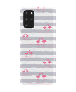Flamingo Pink Stripes for Amazing Samsung Galaxy S20 Plus Case Cover