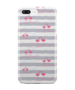 Flamingo Pink Stripes for Beautiful iPhone 7 Plus Case