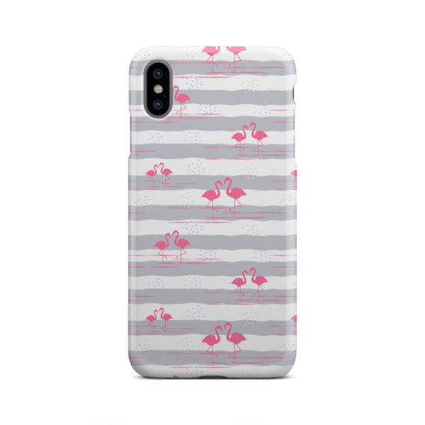 Flamingo Pink Stripes for Best iPhone XS Max Case Cover