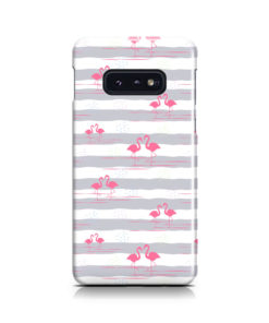 Flamingo Pink Stripes for Cool Samsung Galaxy S10e Case