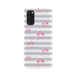Flamingo Pink Stripes for Cool Samsung Galaxy S20 Case