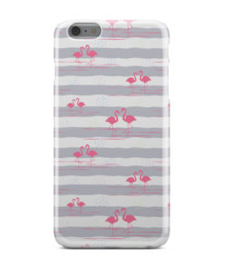 Flamingo Pink Stripes for Cute iPhone 6 Plus Case