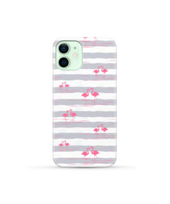 Flamingo Pink Stripes for Newest iPhone 12 Mini Case Cover