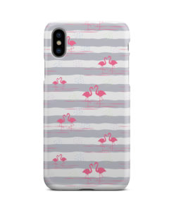 Flamingo Pink Stripes for Newest iPhone X / XS Case