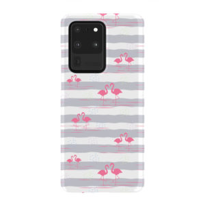 Flamingo Pink Stripes for Newest Samsung Galaxy S20 Ultra Case