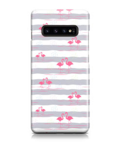 Flamingo Pink Stripes for Personalised Samsung Galaxy S10 Case