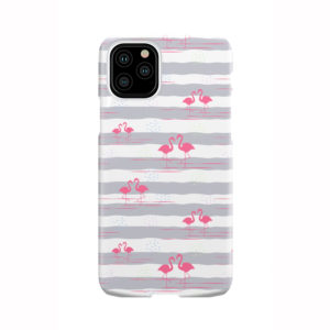 Flamingo Pink Stripes for Premium iPhone 11 Pro Case Cover