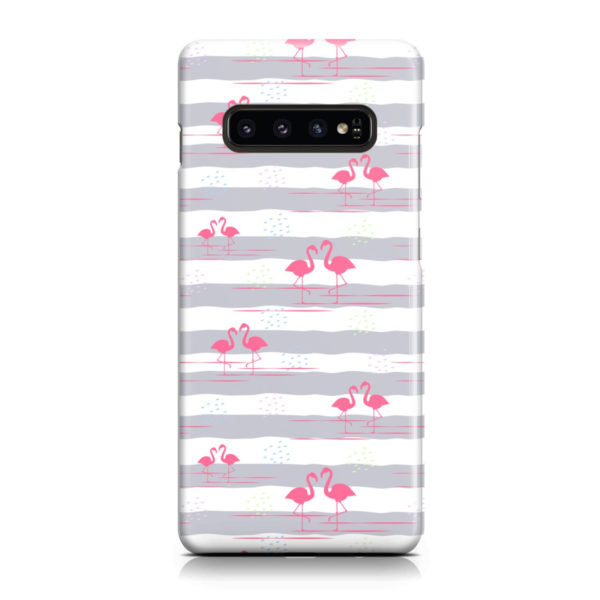 Flamingo Pink Stripes for Simple Samsung Galaxy S10 Plus Case Cover
