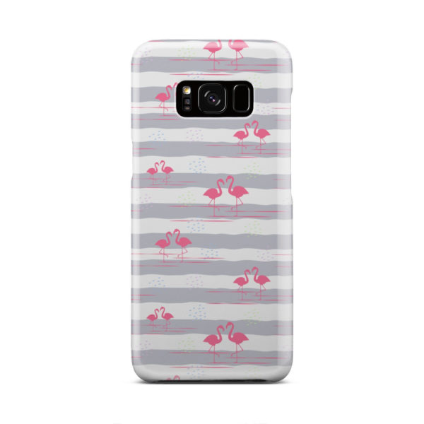Flamingo Pink Stripes for Simple Samsung Galaxy S8 Case Cover
