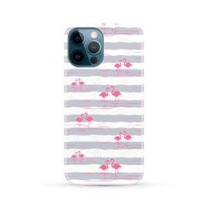 Flamingo Pink Stripes for Trendy iPhone 12 Pro Max Case Cover