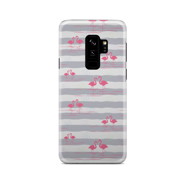 Flamingo Pink Stripes for Trendy Samsung Galaxy S9 Plus Case Cover