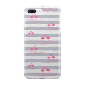 Flamingo Pink Stripes for Unique iPhone 8 Plus Case Cover