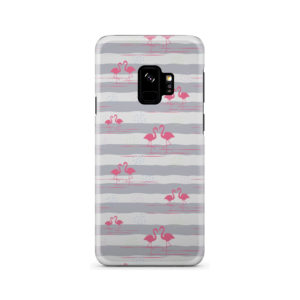 Flamingo Pink Stripes for Unique Samsung Galaxy S9 Case Cover