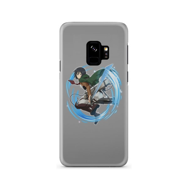 Mikasa Ackerman Attack on Titan Character for Newest Samsung Galaxy S9 Case Cover