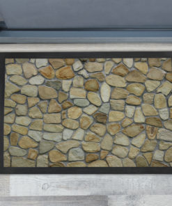 Awesome Brown Natural Stone Texture Personalised Doormats UK