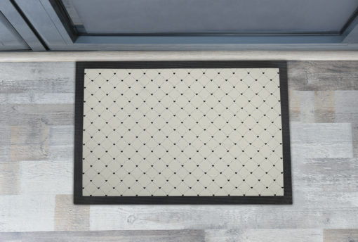Awesome Dotted Lines and Hearts Front Doormats