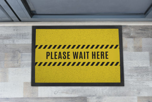 Awesome Please Wait Here Personalised Doormats UK