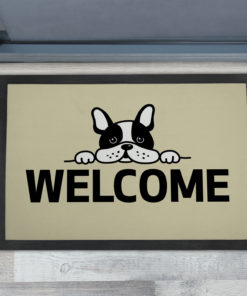 Best Cute French Bulldog - Welcome Personalised Doormats UK