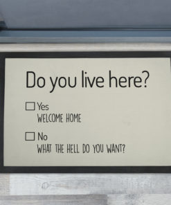 Cheap Do You Live Here Personalised Doormats UK
