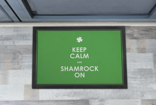 Cool Keep Calm and Shamrock On Front Doormats