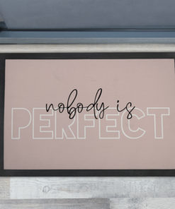 Cool Nobody is Perfect - Inspirational Quotes Extra Large Doormats