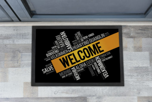 Cool Welcome in Different Languages Front Doormats