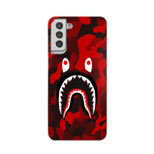 Camo Red Bape Shark for Customized Samsung Galaxy S21 Plus Case Cover