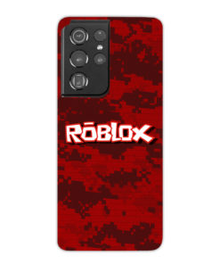 Camo Red Roblox for Cool Samsung Galaxy S21 Ultra Case Cover