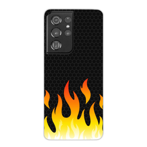 Carbon Flame for Cute Samsung Galaxy S21 Ultra Case Cover