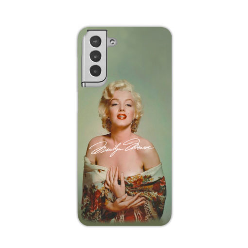 Marilyn Monroe Poster Signature for Simple Samsung Galaxy S21 Plus Case