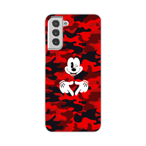 Mickey Mouse Camouflage for Trendy Samsung Galaxy S21 Case