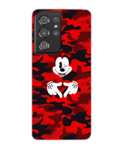 Mickey Mouse Camouflage for Unique Samsung Galaxy S21 Ultra Case
