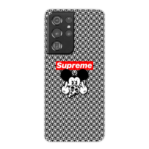 Mickey Mouse Gangster Supreme for Best Samsung Galaxy S21 Ultra Case