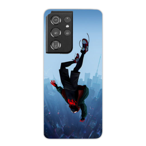 Miles Morales Jump for Custom Samsung Galaxy S21 Ultra Case Cover