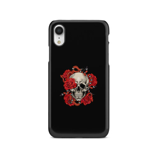 Red Rose Skull for Amazing iPhone XR Case