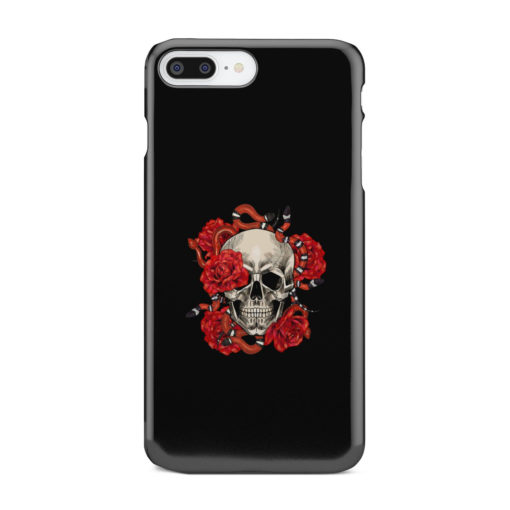 Red Rose Skull for Cool iPhone 8 Plus Case Cover