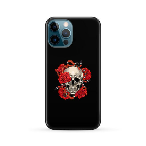 Red Rose Skull for Custom iPhone 12 Pro Max Case Cover